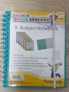 A5 Sortable Notebook