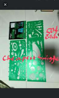 Smiggle stencil sheet and space book children art and craft design pattern