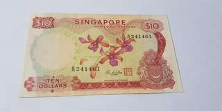 $10 Singapore orchid note
