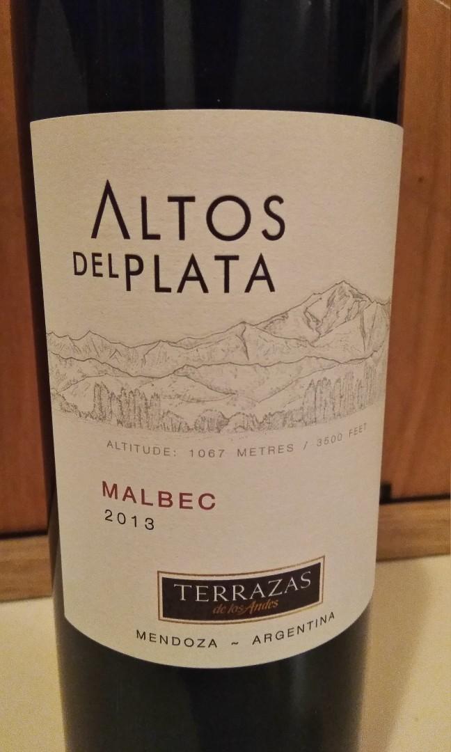 2013 Terrazas De Los Andes Altos Del Plata Malbec 紅酒 Red