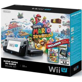 WTS / WTT *Good Condition* Wii U - Super Mario 3D World Limited Edition Bundle