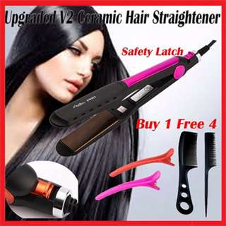 Instocks Professional Ceramic Hair Straightener 3D Curling/Straightening