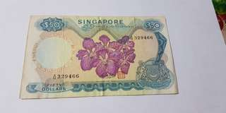$50 orchid Singapore note