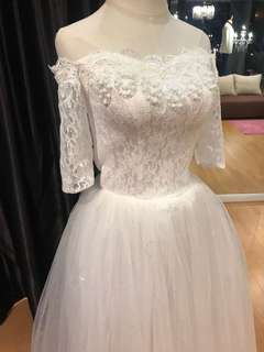 Wedding Gown bridal gown off shoulder gown