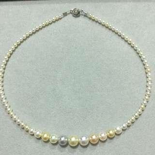 Akoya混色珍珠項鍊