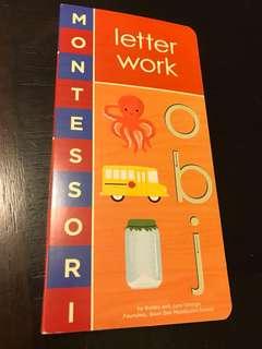 Montessori Letter work