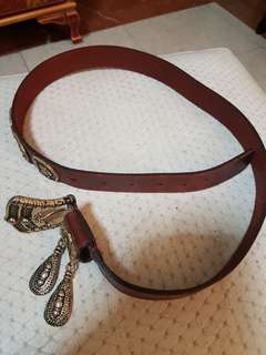 Bally ladies belt (red colour)