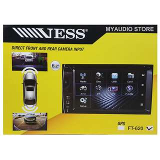 "VESS FT-620 6.2"" UNIVERSAL DUAL DIN DVD PLAYER"