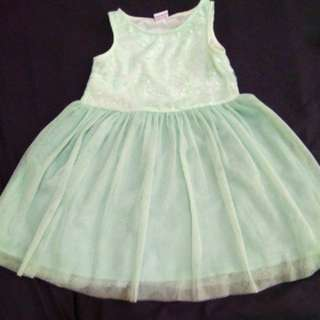 Mint colored birthday dress