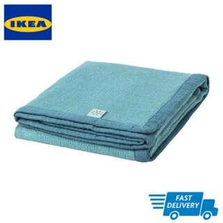 IKEA TILLGIVEN Blanket, dark blue FAST DELIVERY