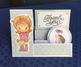 3 d thank you card