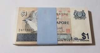 $1 bird series x 100 pcs Singapore currency