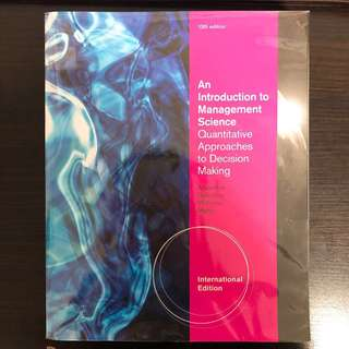 An Introduction To Management Science Textbook