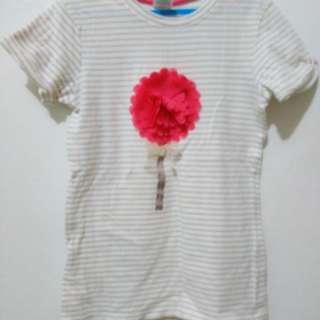 💙3D flower dress 5 to 6