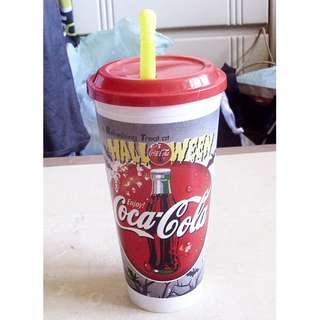90年代產品可口可樂萬勝節版塑膠杯一隻