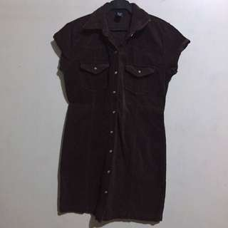 GAP | Dark Brown Corduroy Dress