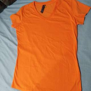 Orange BNY V-neck Shirt