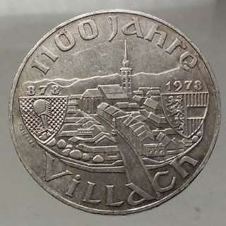 1100th Anniversary of the Founding of Villach silver coin