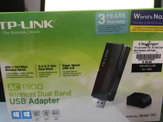 TP-Link AC1300 Wireless Dual Band USB Adapter
