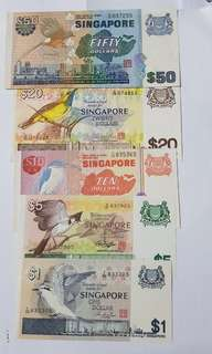 Singapore bird notes set