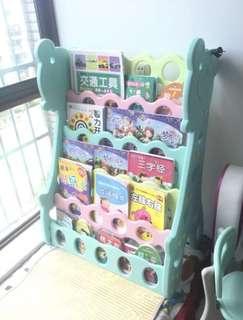 兒童可愛圖書架(5層)95% new
