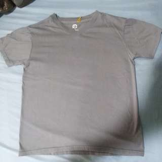 Plain Gray V-neck Shirt