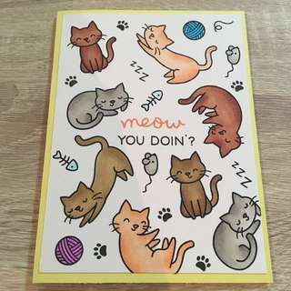 Handmade card for all occasions - birthday, friendship (cat 2)
