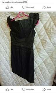 Black off shoulder formal dress