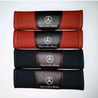 For Mercedes Benz: Brand New High Quality Leather Car Seat Belt Seatbelt Cover Shoulder Pad for Mercedes Benz Kompressor A180 A250 E200 E250 C180