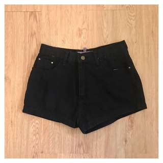 Black Maong Shorts