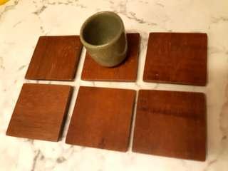茶道具 - 茶杯墊 杯墊 6入