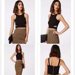 Factorie Cropped Cut Out Top