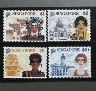 Singapore stamps unmounted mint tourism $1-$10 fresh!