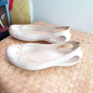 White Crocs Size 9