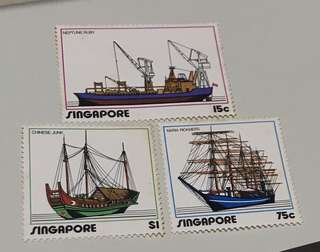 Singapore stamps mint 1972 (toned gum) 3v Set