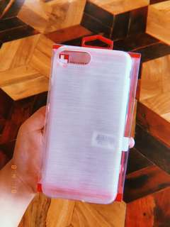 WHITE LINED (CLEAR AND THICK) IPHONE 7+ CASE
