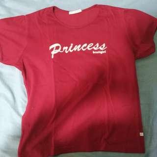 Bratt Girl Red Princess Shirt