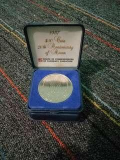 1987 $10 Coin 20th Anniversary of Asean