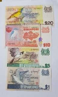 Bird Series Singapore notes