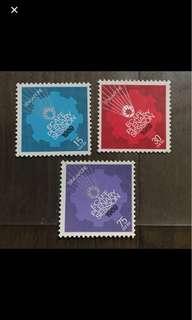 Singapore stamps mounted mint ECAFE 3v Set fresh gum