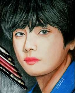 BTS V TAEHYUNG  PORTRAIT (COLOUR) LOVE YOURSELF TEAR