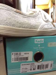 FREE SHIPPING!!! Keds Kate Spade Limited Edition Embroidered White Sneakers