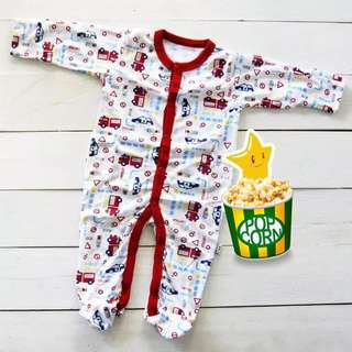 (0-3m)  Newborn Baby Pyjamas Libby premium sleepsuit soft cotton