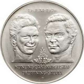 50 Kronor - Carl XVI Gustaf Royal Wedding