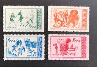 中國郵票S6 敦煌 4v全