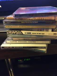 Lots of CDs vampire weekend, the shins, tom petty, etc
