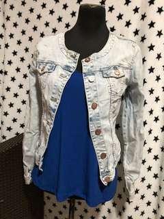 Promod denim jacket with goldrose buttons