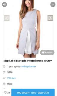 mgp grey plated dress