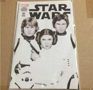 Star Wars variant #1 Black & White Version, Marvel comics