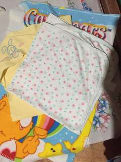 3pcs. baby blanket with hood